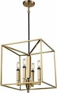 ELK 67754-4 Mandeville Contemporary Satin Brass,Oil Rubbed Bronze Foyer Lighting Fixture