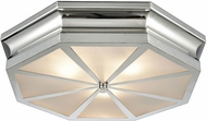 ELK 68101-3 Windsor Modern Polished Nickel 20  Flush Mount Light Fixture