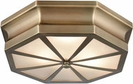 ELK 68110-3 Windsor Contemporary Classic Brass 16  Flush Mount Lighting Fixture