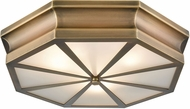 ELK 68111-3 Windsor Modern Classic Brass 20  Flush Ceiling Light Fixture