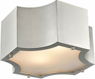 ELK 68120-2 Gordon Contemporary Satin Nickel 11  Flush Mount Ceiling Light Fixture