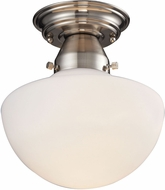 ELK 69044-1 Schoolhouse Flushes Satin Nickel Ceiling Light Fixture