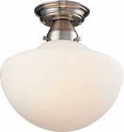 ELK 69045-1 Schoolhouse Flushes Satin Nickel Flush Lighting