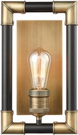 ELK 69210-1 Lisbon Contemporary Classic Brass / Oil Rubbed Bronze Wall Light Sconce