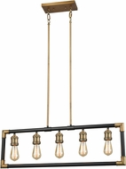 ELK 69216-5 Lisbon Contemporary Classic Brass / Oil Rubbed Bronze Island Light Fixture