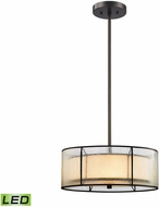 ELK 70225-3-LED Mirage Tiffany Bronze LED Drum Drop Ceiling Lighting