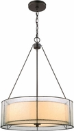 ELK 70226-3 Mirage Modern Tiffany Bronze Drum Ceiling Light Pendant