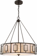ELK 70254-3 Minden Contemporary Tiffany Bronze Drum Drop Lighting Fixture