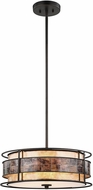 ELK 70263-3 Tremont Tiffany Bronze Drum Pendant Light