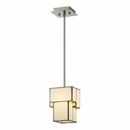 ELK 72062-1 Cubist Modern Brushed Nickel Hanging Lamp