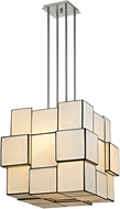 ELK 72064-8 Cubist Modern Brushed Nickel Hanging Lamp