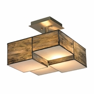 ELK 72071-2 Cubist Contemporary Brushed Nickel Flush Mount Light Fixture