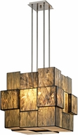 ELK 72074-8 Cubist Contemporary Brushed Nickel Hanging Light