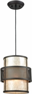 ELK 72184-1 Beckley Modern Oil Rubbed Bronze Mini Drum Hanging Pendant Lighting