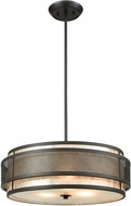 ELK 72185-3 Beckley Contemporary Oil Rubbed Bronze Drum Hanging Pendant Light