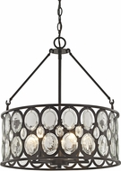 ELK 81125-5 Serai Modern Oil Rubbed Bronze Drum Pendant Lighting