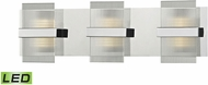 ELK 81141-LED Desiree Modern Polished Chrome LED 3-Light Bathroom Wall Light Fixture