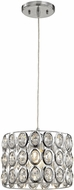 ELK 81153-1 Tessa Polished Chrome Mini Drum Lighting Pendant