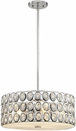 ELK 81155-5 Tessa Polished Chrome Drum Pendant Lamp
