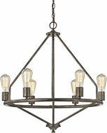 ELK 81175-6 Galaway Contemporary Windswept Silver Hanging Chandelier