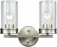 ELK 81301-2 Leland Contemporary Satin Nickel 2-Light Bath Wall Sconce