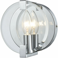 ELK 81340-1 Clasped Glass Modern Polished Chrome Sconce Lighting