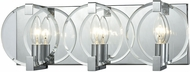 ELK 81341-3 Clasped Glass Contemporary Polished Chrome 3-Light Bathroom Sconce Lighting