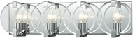 ELK 81342-4 Clasped Glass Modern Polished Chrome 4-Light Bath Lighting Sconce