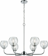 ELK 81364-6 Emory Contemporary Polished Chrome Chandelier Lamp