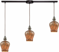 ELK 85100-3L Sojourn Contemporary Oil Rubbed Bronze Multi Hanging Pendant Lighting