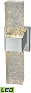 ELK 85106-LED Cubic Ice Modern Polished Chrome LED Lighting Sconce