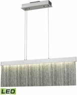 ELK 85112-LED Meadowland Contemporary Satin Aluminum / Polished Chrome LED 32  Kitchen Island Lighting
