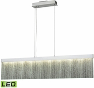 ELK 85113-LED Meadowland Modern Satin Aluminum / Polished Chrome LED 48  Kitchen Island Light
