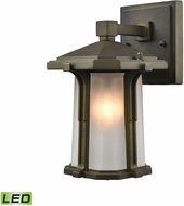 ELK 87090-1-LED Brighton Smoked Bronze LED Outdoor Wall Mounted Lamp