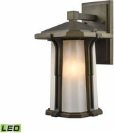 ELK 87091-1-LED Brighton Smoked Bronze LED Outdoor Wall Lighting Fixture