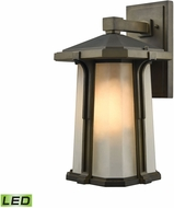 ELK 87092-1-LED Brighton Smoked Bronze LED Outdoor Wall Sconce Light