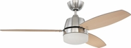 Craftmade BEL52BNK3CRW Beltre Contemporary Brushed Polished Nickel 52  Home Ceiling Fan