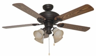 Craftmade BFT52ABZ5C Beaufort Aged Bronze Brushed 52  Ceiling Fan