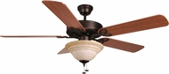 Craftmade BLD52ABZ5C1 Builder Deluxe Aged Bronze Brushed Halogen 52 Ceiling Fan