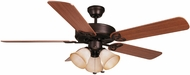 Craftmade BLD52ABZ5C3 Builder Deluxe Aged Bronze Brushed Halogen 52  Home Ceiling Fan