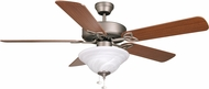 Craftmade BLD52AN5C1 Builder Deluxe Antique Nickel Halogen 52  Ceiling Fan