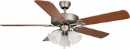 Craftmade BLD52AN5C3 Builder Deluxe Antique Nickel Halogen 52  Home Ceiling Fan