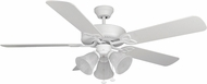 Craftmade BLD52MWW5C3 Builder Deluxe Matte White Halogen 52  Home Ceiling Fan