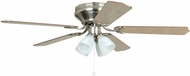 Craftmade BRC52BNK5C Brilliante Brushed Polished Nickel 52  Home Ceiling Fan