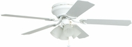 Craftmade BRC52WW5C Brilliante White 52  Home Ceiling Fan