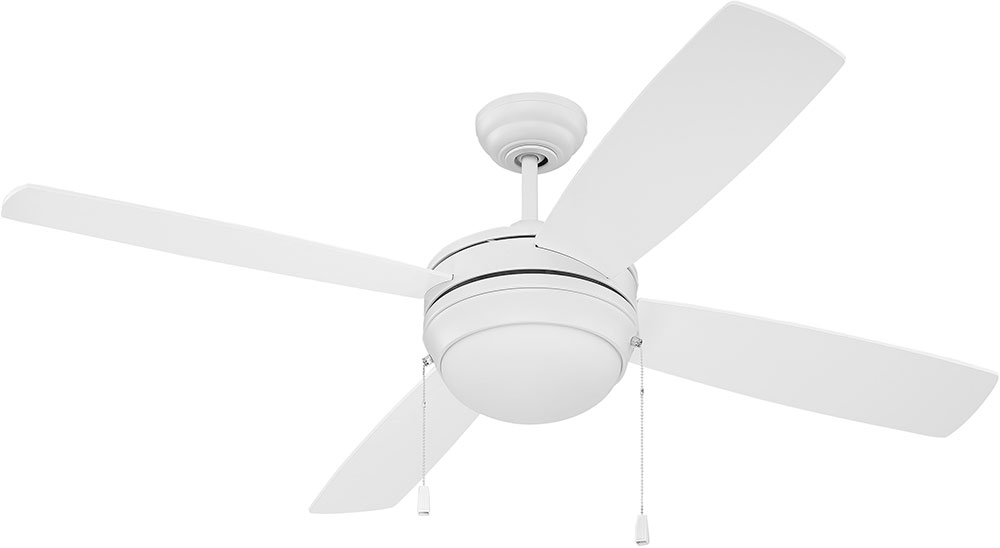 Craftmade Lav52mww4 Nrg Laval Matte White Fluorescent 52 Quot Ceiling Fan Cft Lav52mww4 Nrg