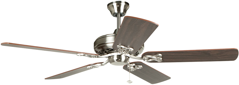 craftmade maj52bnk5 majestic brushed polished nickel fluorescent 52u0026nbsp ceiling fan loading zoom