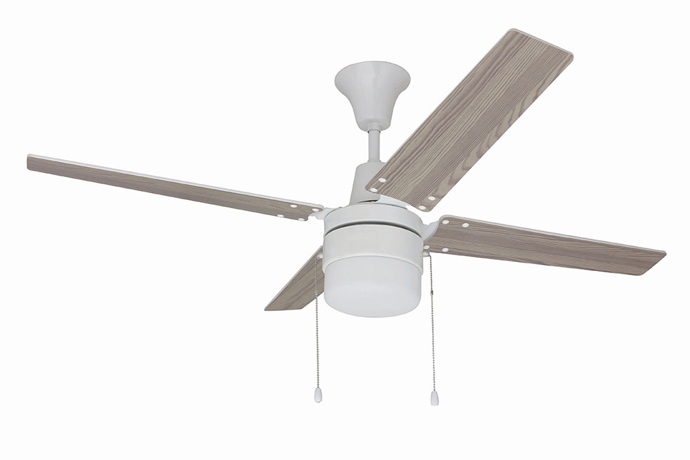 Craftmade ubw48ww4c1 wakefield modern white 48 home ceiling fan cft ubw48ww4c1 - Modern white ceiling fan ...