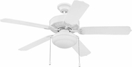 Craftmade WOD52WW5PC1 Cove Harbor White Fluorescent Indoor / Outdoor 52 Home Ceiling Fan