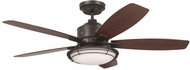 Emerson Ceiling Fans CF630ORB Rockpointe Oil Rubbed Bronze Fluorescent Interior / Exterior 54 Ceiling Fan